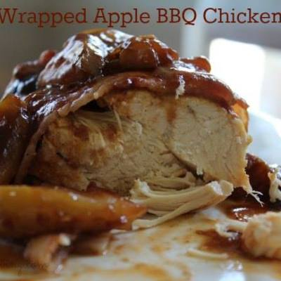 Bacon Wrapped Apple BBQ Chicken