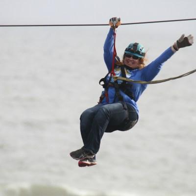 Ziplining in the Gulf