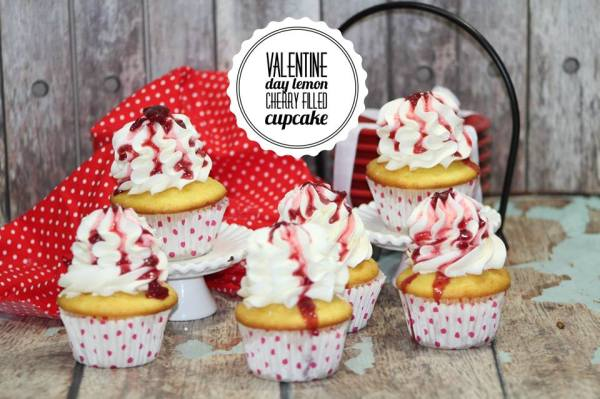 Lemon Cherry Filled Cupcake