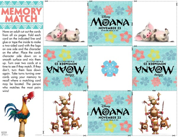 MOANA Coloring Sheets and Activities