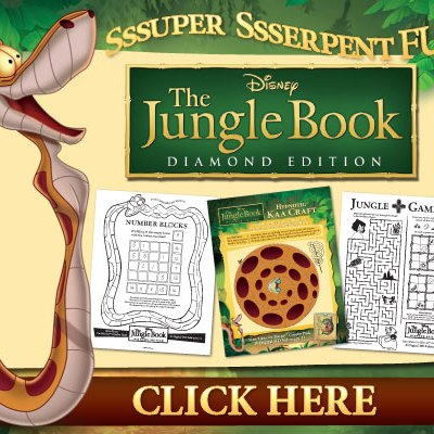 Activity Sheets, Photos & Film Clips for The Jungle Book Diamond Edition out 2/11