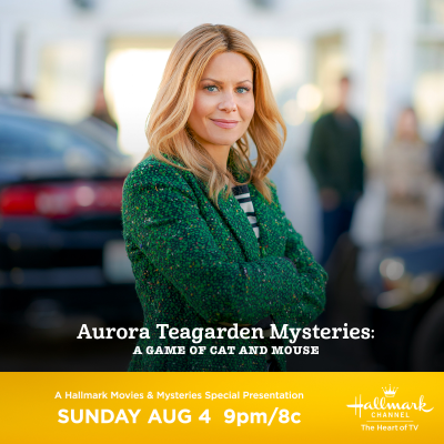 """Hallmark Movies & Mysteries """"Aurora Teagarden Mysteries: A Game of Cat and Mouse""""Premiering on Hallmark Channel this Sunday, August 4th at 9pm/8c!"""