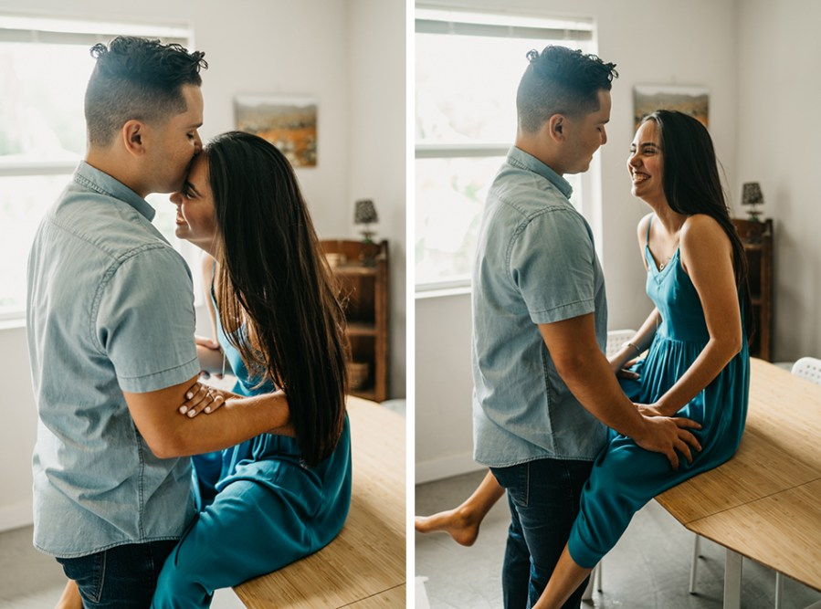 at home couples session