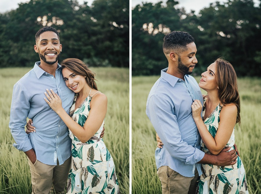 romantic engagement photos