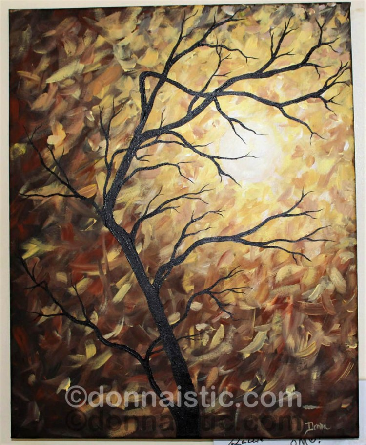 Abstract Tree. Original Acrylic Painting by Donna Léger.
