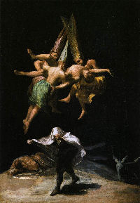 Witches In The Air - Francisco de Goya