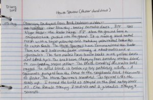 Species account for a Grinnell style nature journal