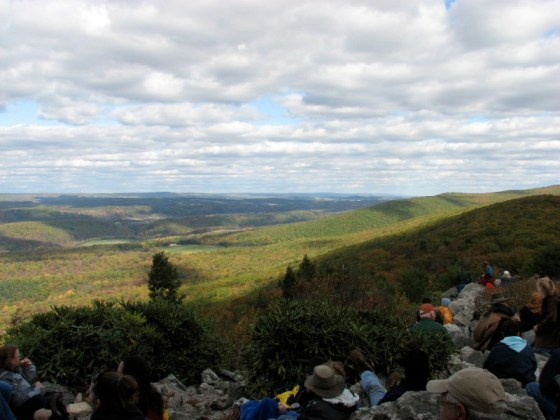 Hawk Mountain - overlooking the rolling mountains on the Piedmont Plateau