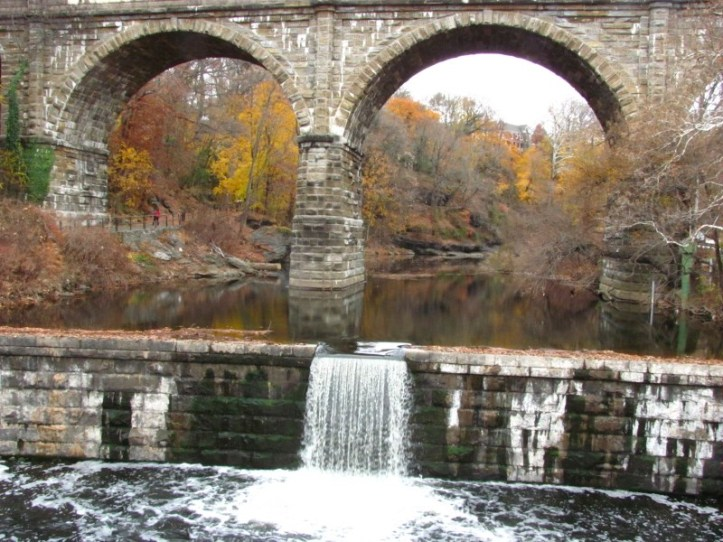 Wissahickon Creek at the end of its' run.