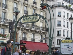 Metropolitan metro station entrance, paris, France. Photo by Donna L.  Long, 2014. All rights reserved.