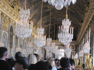 The Hall of Mirrors at Versailles, the original furnishings were made of solid silver. You can see this room in the perfume commercial with Charlize Theron.
