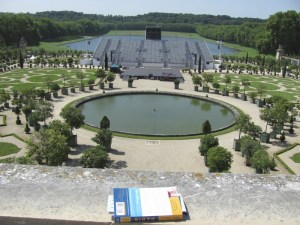 A garden at Versailles set up for a concert to be held that night.