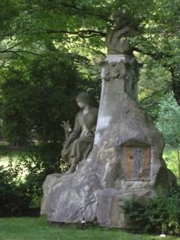 scuplture in the garden