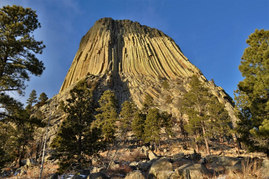 Bear's Lodge (Devils Tower) in Wyoming> NPS.gov. public domain.