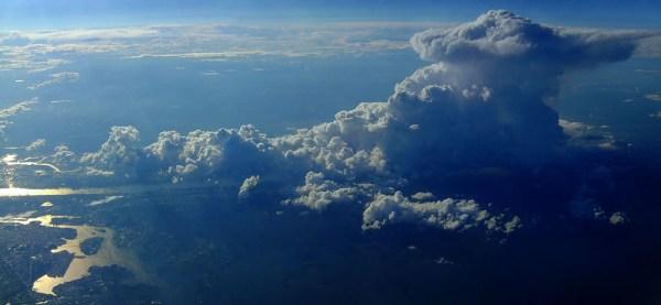 Cumulonimbus from plane_over_New_York, 30,000 feet