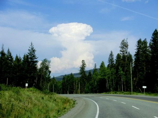 towering Cumulonimbus cloud
