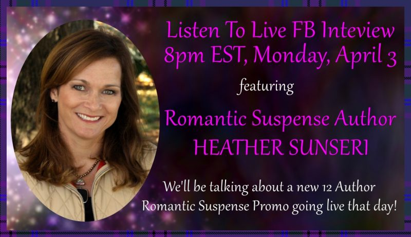Live Facebook Interview – Monday Night, April 3.