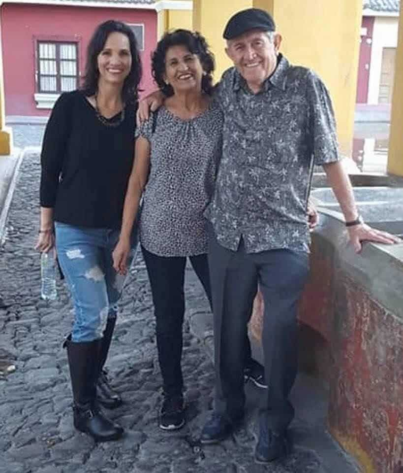 Donna Partow with Hector Torres and his wife in Guatemala