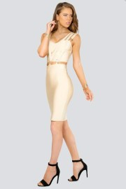 donnards.com Camini Triple Banded Cut-Out Bandage Dress