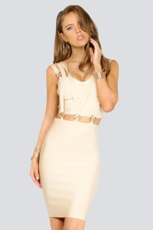 donnards.com Camini Triple Banded Cut-Out Bandage Dress birthday