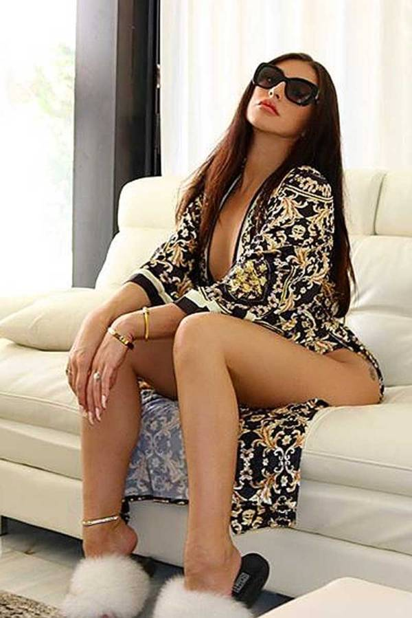 So Much More Deep V-neck Print Swimsuit & Beach Coverup 2-Piece Set