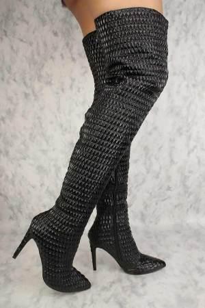 cape robbin gigi-100 black thigh high boots