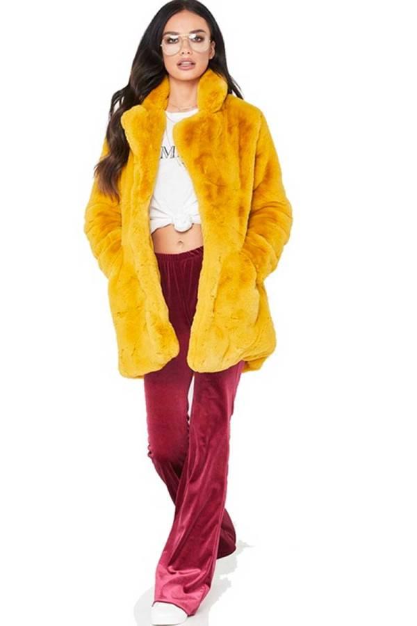 That Life Winter Long Sleeve Faux Fur Jacket 03