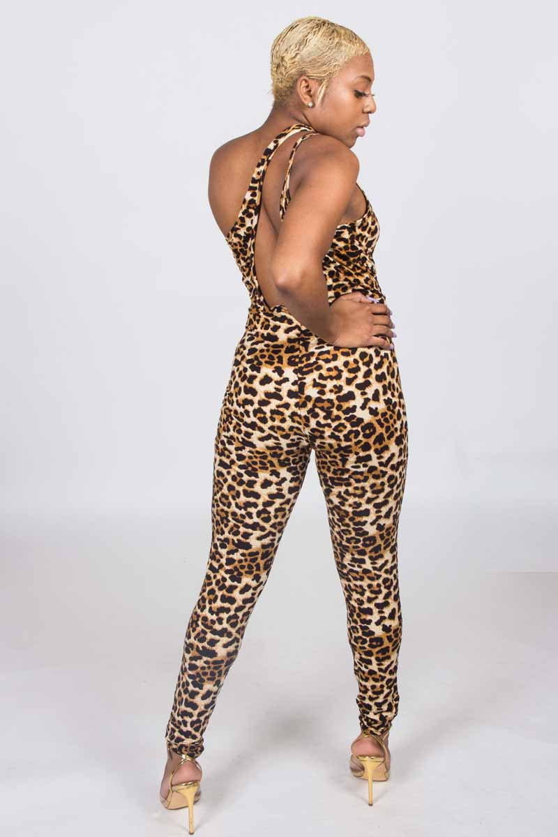 e4bf3455e010 On The Attack Leopard Print Party Catsuit | DONNARD'S