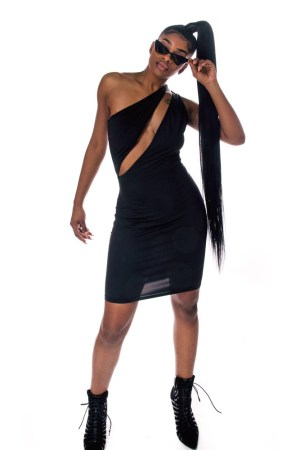 Caught Feelings Sleeveless Black Dress