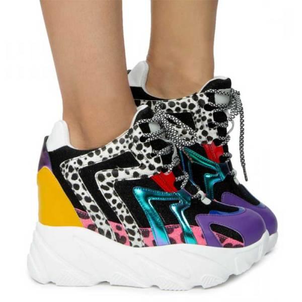 anthony wang logan01 wedge platform sneaker multi