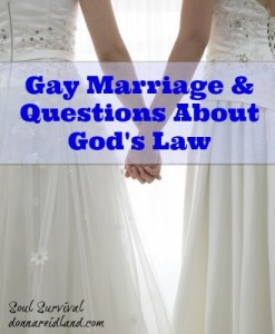"""Gay Marriage & Questions About God's Law - Interpreting Scripture is a hot topic today with even churches themselves debating issues like homosexuality and gay marriage. One line of argument poses the question, """"How can you say some Old Testament laws are still valid and others are not?"""""""