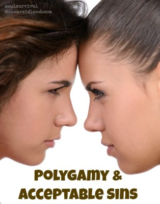"Polygamy & Acceptable Sins - ""Why did God allow polygamy in the Old Testament?"" I've heard that question many times. The truth is, it has always been sin, but at that time it was an acceptable sin by most people's standards. What sin have you allowed to become acceptable?"