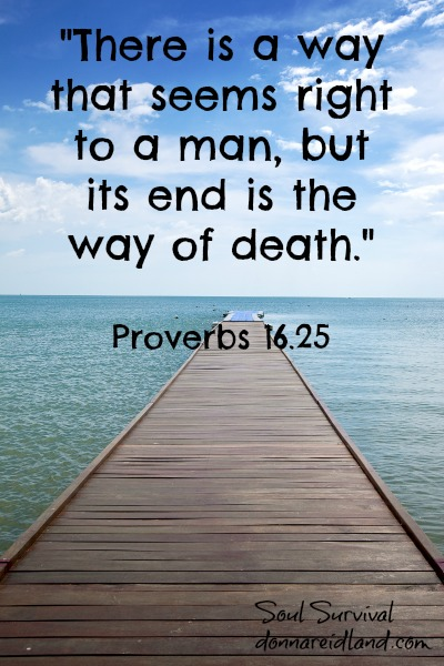 """""""There is a way that seems right to a man, but its end is the way of death."""" Prov. 16.25"""
