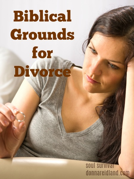 """Biblical Grounds for Divorce"" July 24"