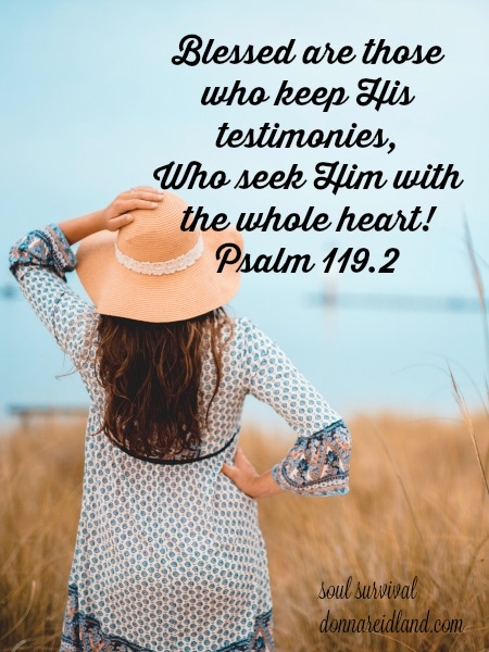 Psalm 119.2 Blessed are those who keep His testimonies, Who seek Him with the whole heart!