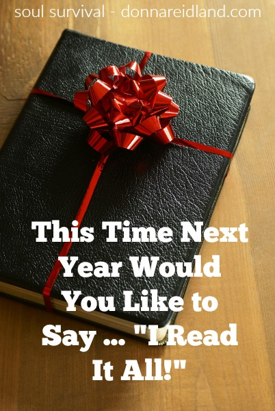 Why Read through the Bible in 2018? #Bible #NewYear #2018 #resolutions