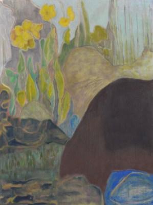 """""""Jane's Rock Garden,"""" Oil on Linen, 24""""x18"""""""