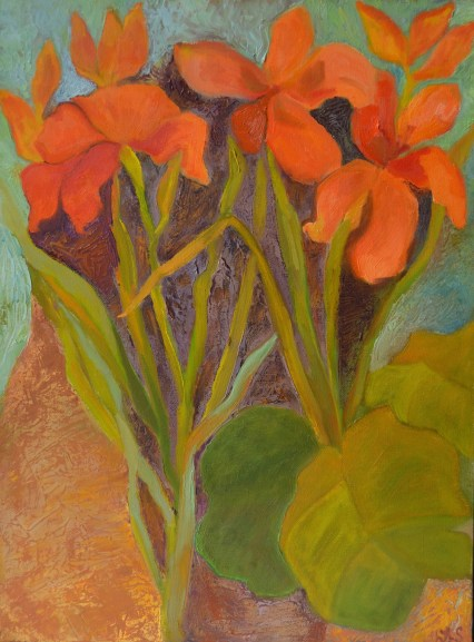 """Larchmont Lilies,"" Oil on Canvas, 12""x16"""