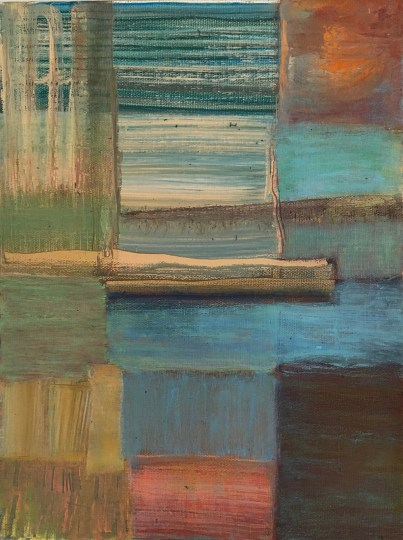 """Ocean Side,"" Oil on Canvas, 12""x9"""