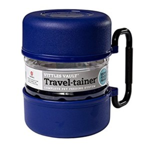 travel tainer dog food holder