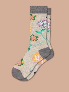bomba socks with flowers