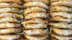 lines of tacos