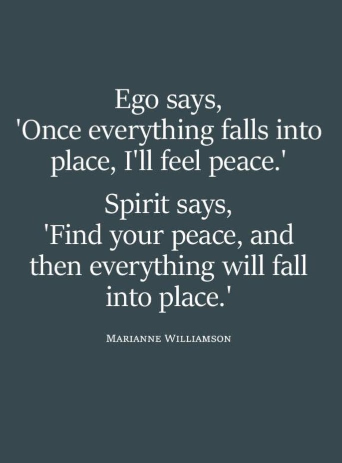 Quote on peace from Marianne Williamson