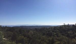 panoramic view from santa barbara botanical gardens