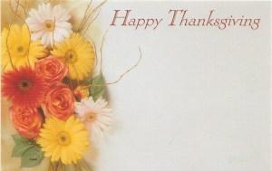 Happy Thanksgiving- flowers