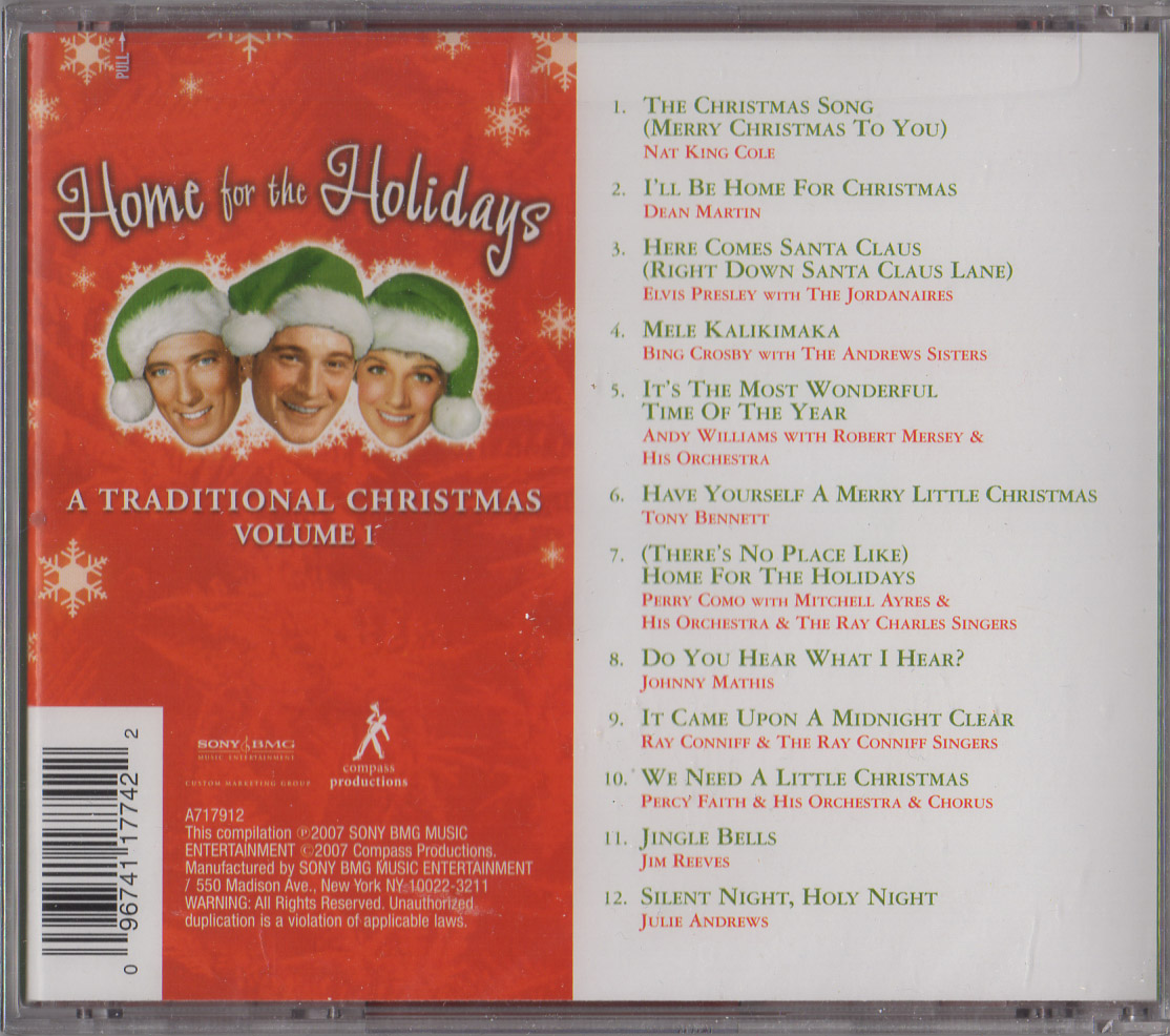 HOME FOR THE HOLIDAYS: A Traditional Christmas, Vol. 1 - New CD