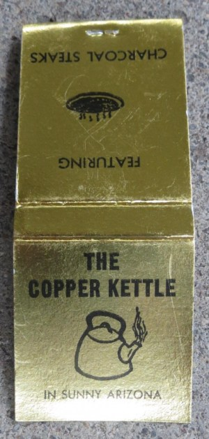 The Copper Kettle Matchbook