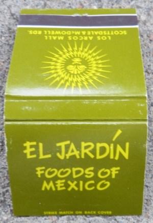 Matchbook from El Jardin Foods
