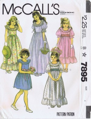 PRAIRIE DRESS, PANTALOONS, BONNET - McCall's 4547, Girls 3-6