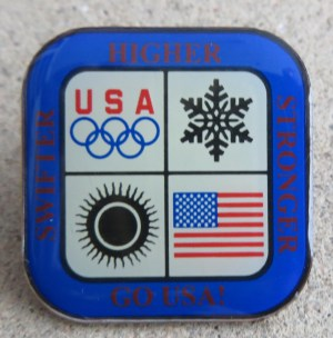 Olympics pin - with motto